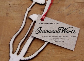 IronwoodWares logo and product tag design